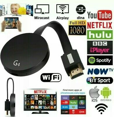 NEW Chromecast 2nd Generation HD 1080P Media Video Digital Streamer Black Google
