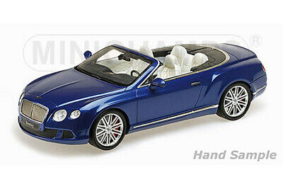 Minichamps 107139331 1:18 BENTLEY CONTINENTAL GT SPEED CONVERTIBLE 2013 BLUE MET