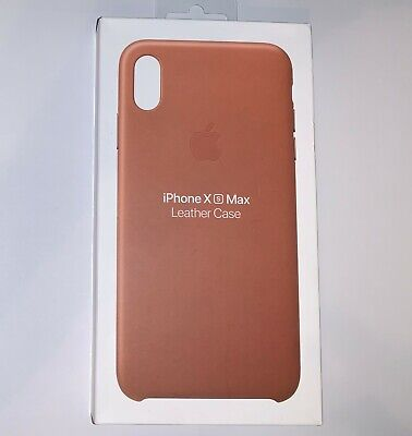 Genuine OEM Apple iPhone XS MAX Leather Case Saddle Brown MRWV2ZM/A NEW