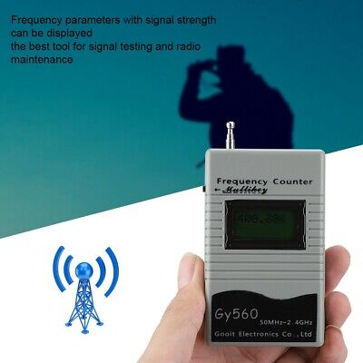 50MHz-2.4GHz Frequency Meter Counter Tester for Radio Transceiver GSM 7 DIGIT