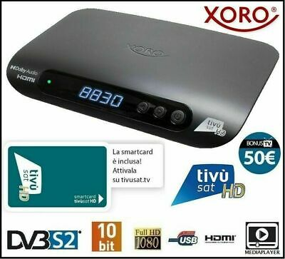 Decoder Tivu'sat Compatibile Satellitare Edision Piccollino Completo di Card