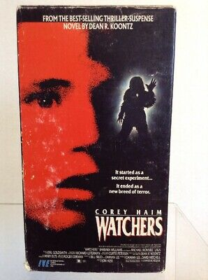 Watchers VHS Corey Haim RARE Cult Horror IVE Tested and Working