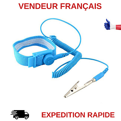 Bracelet Antistatique Electricite Statique Decharge Electronique