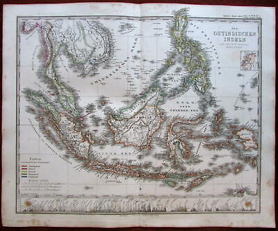 Southeast Asia East Indies Philippines Siam 1862 Stulpnagel Berghaus Stieler map
