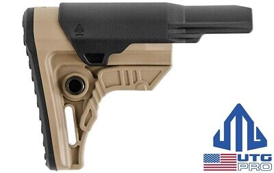 UTG PRO Ops Ready S4 Mil-Spec FDE Rifle Stock RBUS4DMS