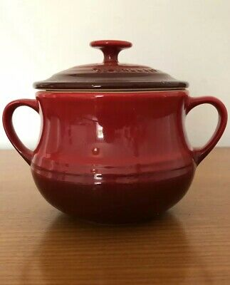 Le Creuset Stoneware Red Lidded Soup Bowl. Great Condition!