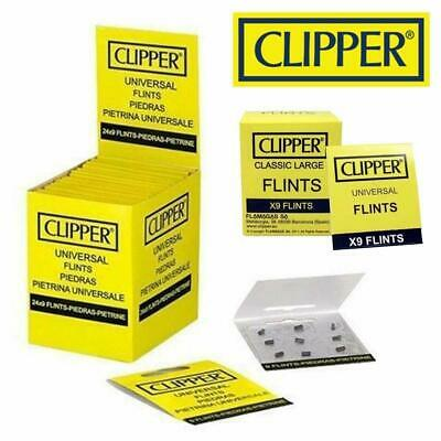18pc Clipper Lighter Flints, Will Work In ALL Flint Lighters CLIPPER BRAND - UK