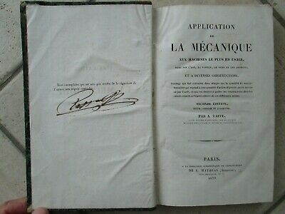 TAFFE : APPLICATION DE LA MECANIQUE AUX MACHINES, 1839. 8 pl. (moulins)