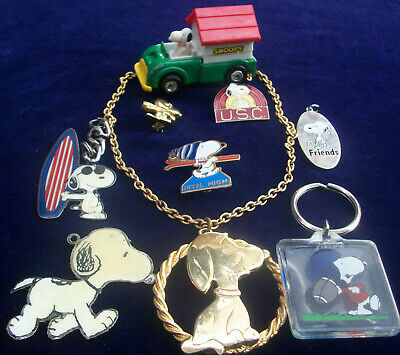 Lot Of Vintage/Now Costume Jewelry All Snoopy Pieces Cute