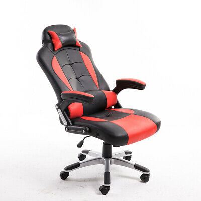 Office Study Computer Desk Chair Executive Racing Gaming Swivel Sport PU Leather