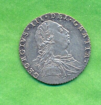 George 111  Sixpence 1787 --With Hearts