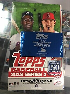 2019 Topps Series 2 Sealed Hobby Box 1 HIT + 1 Silver Pack FREE SHIPPING