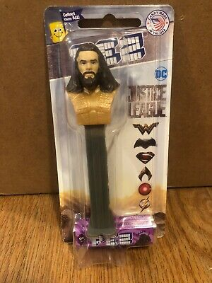 Pez Candy Dispenser Aquaman DC Comics Justice League New On Rare Short Card