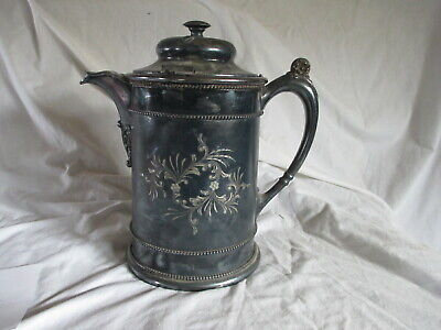 Antique Forbes Silver Company Quadruple Coffee Kettle Teapot Engraved as Trophy