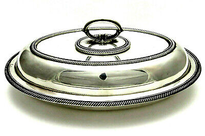 *HAWKSWORTH EYRE* Antique *SILVERPLATE COVERED CASSEROLE* Serving Dish SHEFFIELD