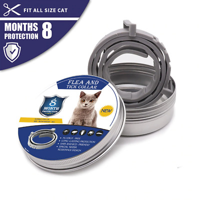 Cat Flea & Tick Collar 8 Month Protection Natural Plant Extracts Free Shipping