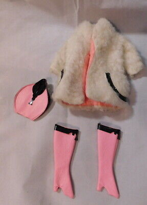 Barbie, Lamb 'Leather #1467, Coat, Boots And Purse, Vintage 1970