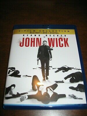 John Wick Chapter 1 & 2 Two Film Collection Blu Ray + DVD + Digital Keanu Reeves