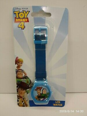 Disney Toy Story Woody Buzz Blue Kid Digital Lcd Watches 100% Original Must L@@K