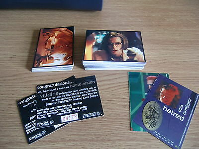 Collection of Australia Dynamic Batman Forever movie cards