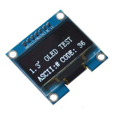 1PCS 1.3 inch White SPI Serial 128x64 OLED LCD Display Screen Module For Ar T7H6