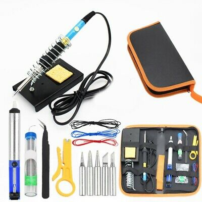 Electric Soldering Iron Kit 15 In 1 Adjustable Temperature Welding Tool 60W A4B5