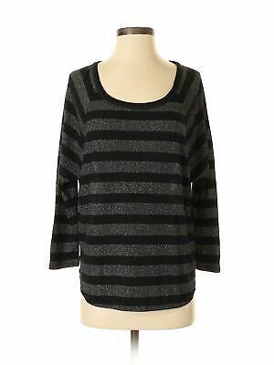 American Eagle Outfitters Women Silver 3/4 Sleeve Top Sm