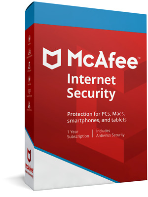 McAfee Internet Security 2019 for Unlimited PC ( One Year)