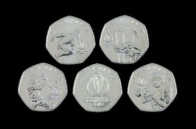 Isle of Man 50p ICC Cricket World Cup 5 Coin Set Choose Your Coin Fifty Pence
