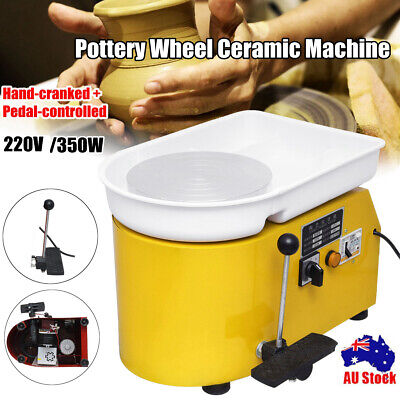 AU 350W 25cm Pottery Wheel Pottery Machine For Ceramic Clay Work Foot Pedal Art
