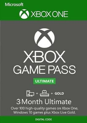 XBOX Game Pass Ultimate + Xbox Live Gold For Xbox One /PC - 3 Month Instant Code