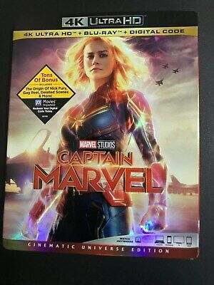 Captain Marvel 4K UHD Blu-Ray + Blu-Ray Combo Pack With Slipcover