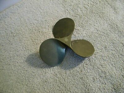 Vintage Antique Style Nautical Solid Brass Boat Propeller Paperweight