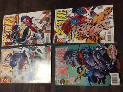 Xcalabour Age Of Apocalypse Marvel Issues 1 - 4 Complete Comics Rare