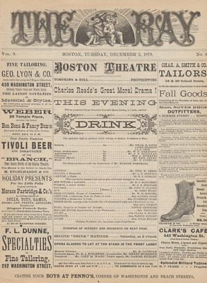*melodrama: Rare 1879 Charles Reade's Drink Program Anti-Alcohol Play*