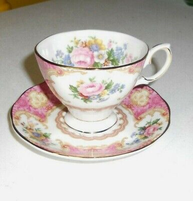 Lady Carlyle by ROYAL ALBERT cup & saucer mint