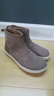 555472f8 $180 Womens 8 Birkenstock Myra Taupe Suede Ankle Boots Booties Cork Footbed  US7