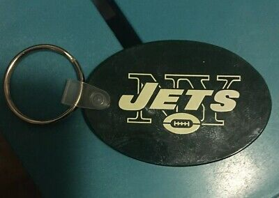 Vintage New York Jets NFL Football Promo Key Chain New North Fork Bank 1990s