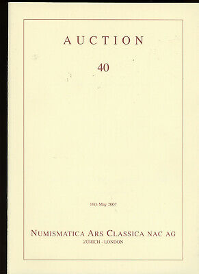 2007 NAC 40 - Rare Greek Roman Byzantine Gold Coin Coins Auction Catalog Book