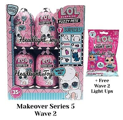 LOL Surprise Makeover Series 5 Wave 2 Case Box 18 Fuzzy Pets Doll Ball 6 Presale