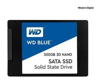"Western Digital WD Blue WDS500G2B0A 3D NAND 500GB PC SSD SATA3 2.5"" Internal"