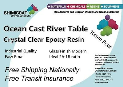 Deep Cast-River Tables-Pour On, CRYSTAL CLEAR 2:1 EPOXY RESIN, Art & Craft DIY