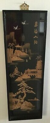 Beautiful Vintage Chinese 3D Artwork In Shadow Box Frame