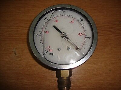 -30inHg/ -2bar liquid Vacuum Pressure Manometer WORKING WO7 USM106