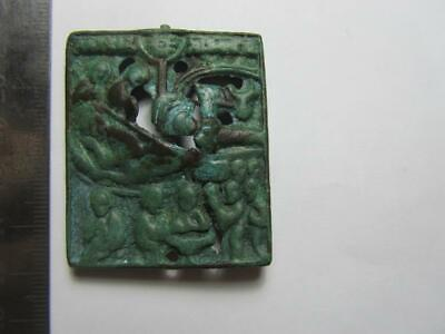 Ancient Byzantine icon.Bronze icon Christmas day 10-13th century 100% original