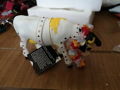 Collectable COW PARADE 'Rock-N-Roll' Elvis Presley FIGURE/ORNAMENT Boxed - L34