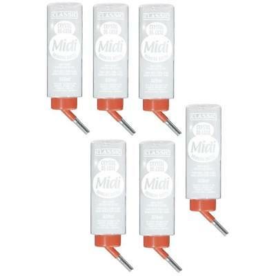 6 x Trinkflasche / Wasserflasche / Nager Tränke / Crystal Classic Deluxe 320 ml