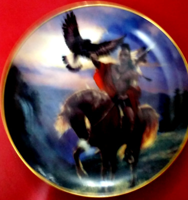 Franklin Mint Western Heritage  American Indian Spirit Of The East Wind  Plate