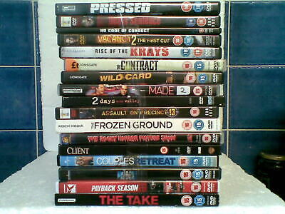 dvd's 17 in total including 5 (18's) 12 (15's) various titles Low 50 p start