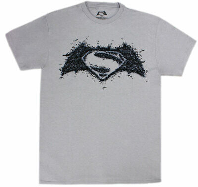 Batman vs Superman Bat-made Logo Men's Silver Shirt